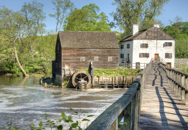 Philipsburg Manor in Sleepy Hollow, New York. The Philipses made use of African slaves to build various structures at both the Upper Mills and Lower Mills.