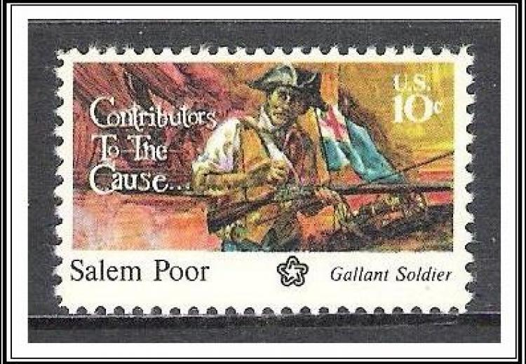 U.S. stamp for Salem Poor (1747-1802).