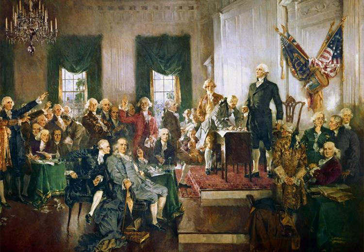 Signing of Constitution, by Howard C. Cristy.