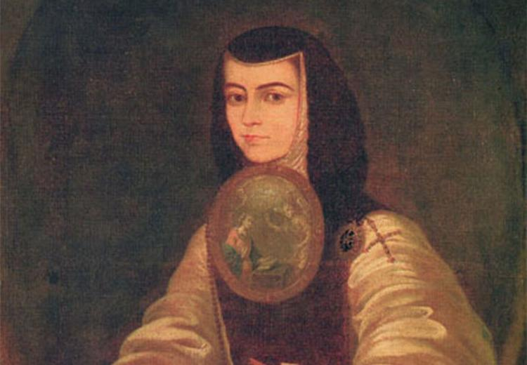 Sor Juana Inés de la Cruz portrait made by Fray Miguel de Herrera.