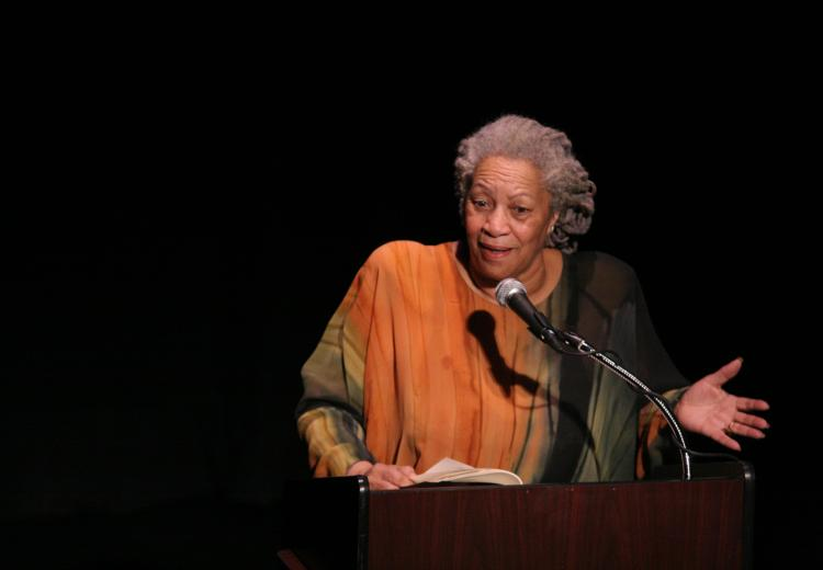 Toni Morrison speaking at The Town Hall, New York City, February 26, 2008