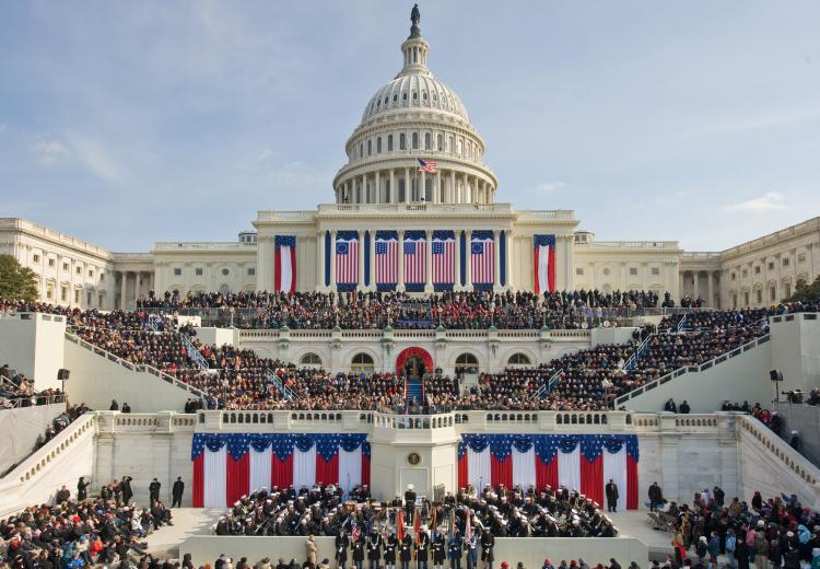 Presidential Inauguration on the West Front of the U.S. Capitol Building.