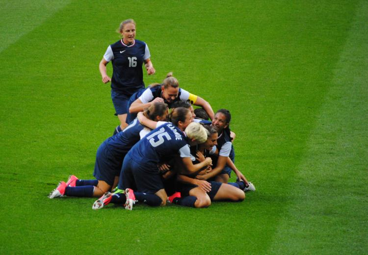 In 2012, the U.S. Women's National Soccer Team beat Japan to win the Olympic gold medal.