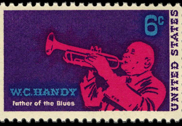 U.S. postage stamp honoring W. C. Handy issued on May 17, 1969.