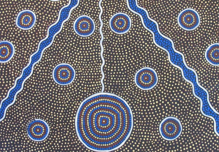 Aboriginal dot painting.