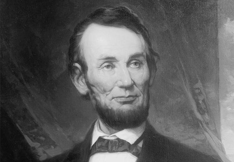 Abraham Lincoln painting by G.H. Story, 1917.