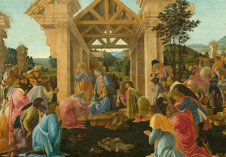 Adoration of the Magi by Botticelli, 1475.