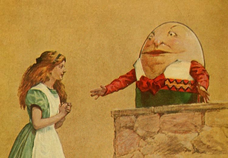 Illustration from Alice in Wonderland.