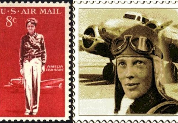 United States Postal Service commemorative stamp issued in 1963 to honor Amelia Earhart.