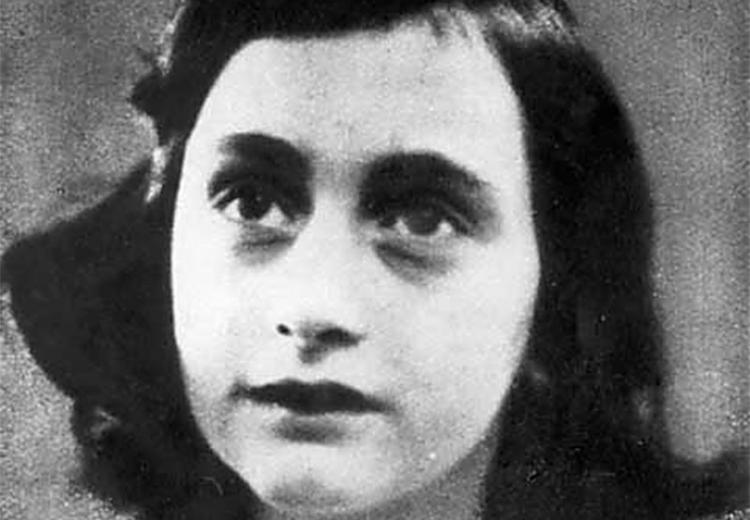 Portrait of Anne Frank, age 13.