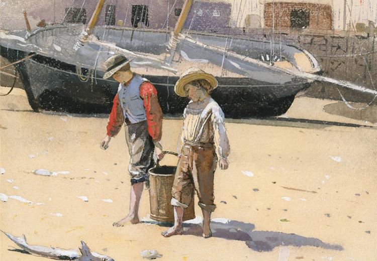 Basket of Clams by Winslow Homer (American, 1836–1910).