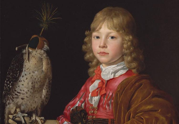 Portrait of a Boy with a Falcon - Wallerant Vaillant.