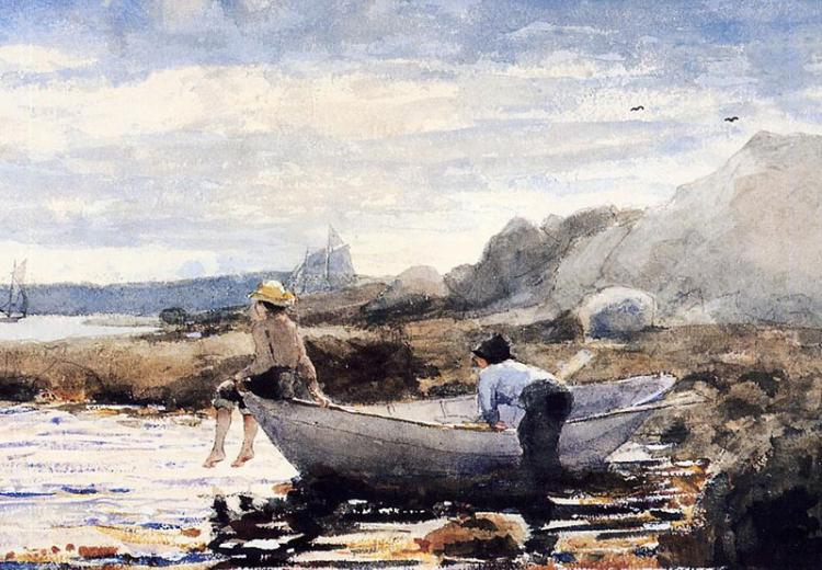 'Boys in a Dory,' by Winslow Homer (American, 1836–1910).
