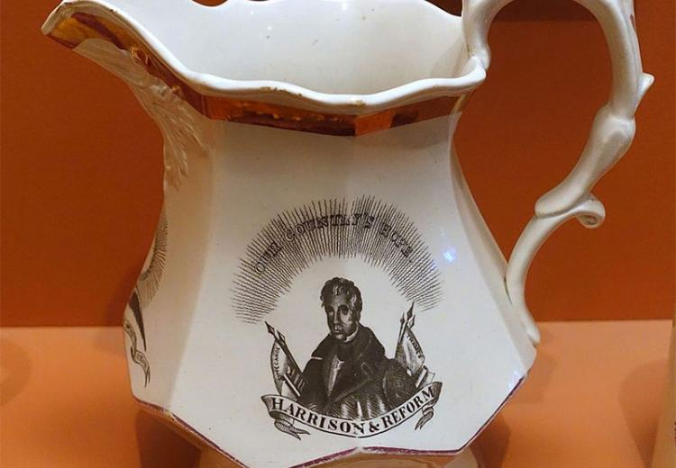 Pitcher momento - William Henry Harrison, 1840.