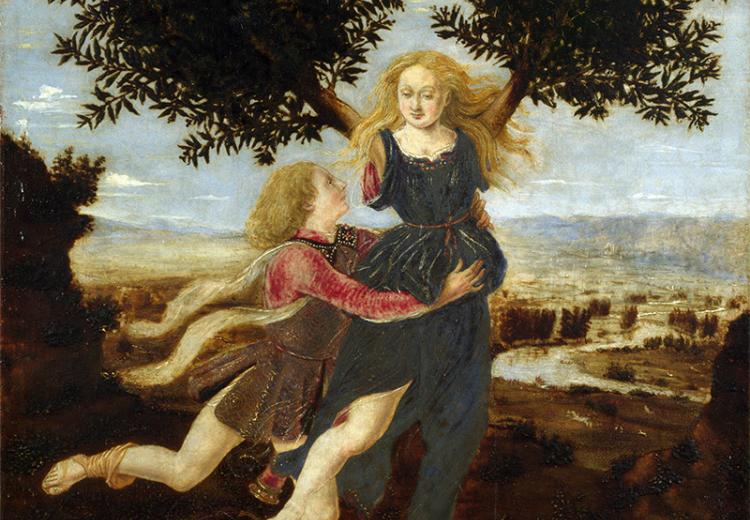 The nymph Daphne prayed for rescue when she was pursued by the god Apollo.