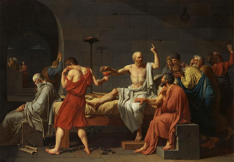 Jacques Louis David, The Death of Socrates