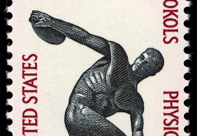 Physical Fitness Sokol 5-cent U.S. stamp, circa 1965.