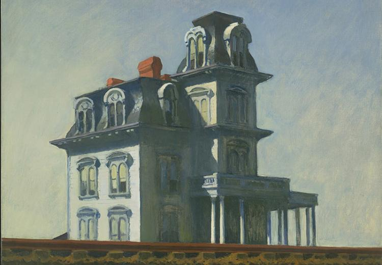 Edward Hopper (1882–1967), House by the Railroad, 1925. Oil on canvas, 24 x 29 in. (61 x 73.7 cm.). The Museum of Modern Art, New York.