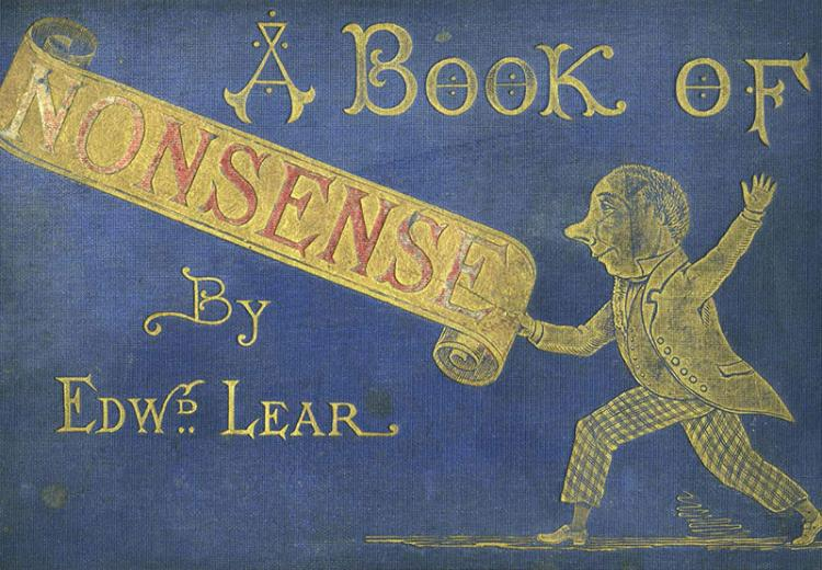Cover for A Book of Nonsense by Edward Lear.