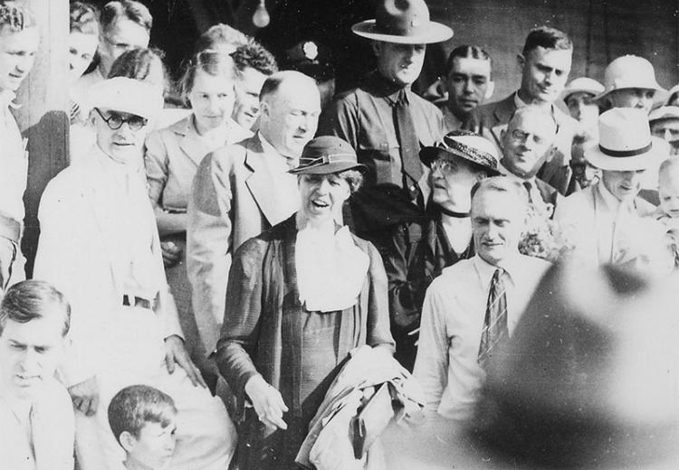Eleanor Roosevelt in Arthurdale, West Virginia, 1933.