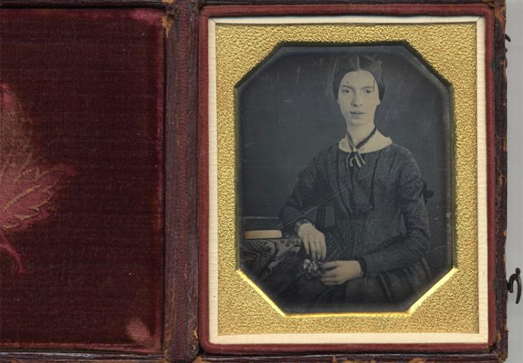 The original of the only authenticated photograph of poet Emily Dickinson