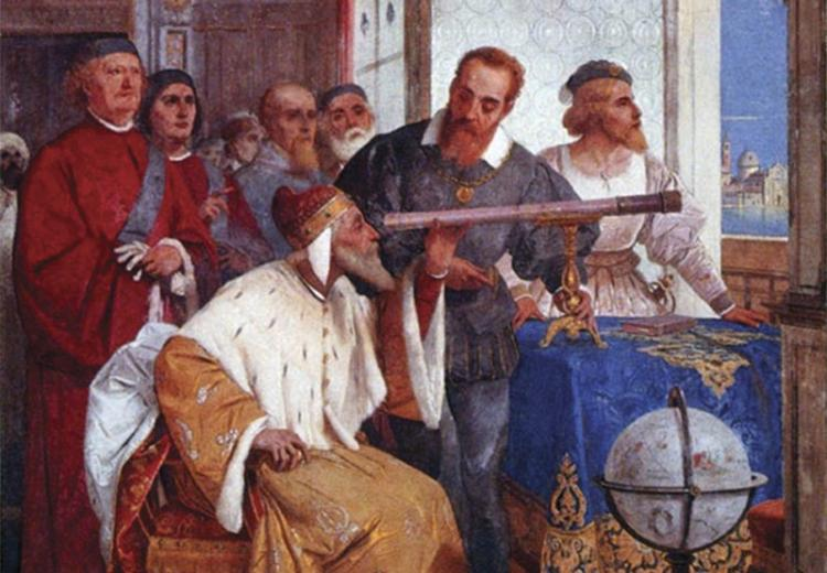 Giuseppe Bertini, Galileo Galilei Showing the Doge of Venice How to use the Telescope, 1858.