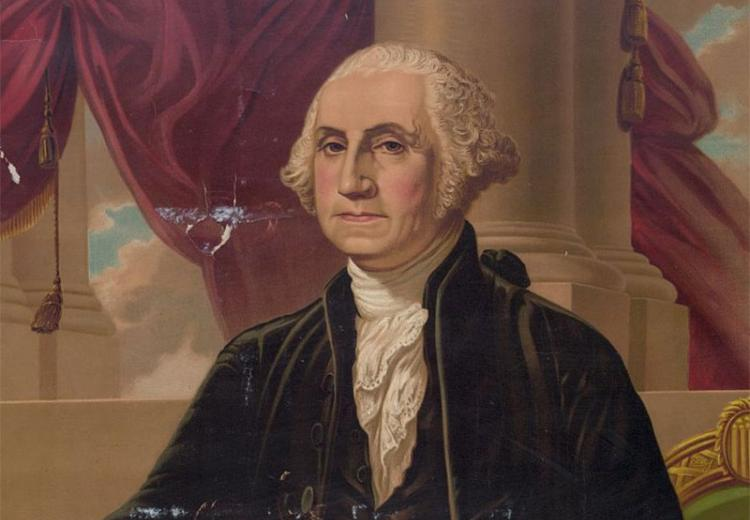 Portrait of George Washington by A. Weidenbach.