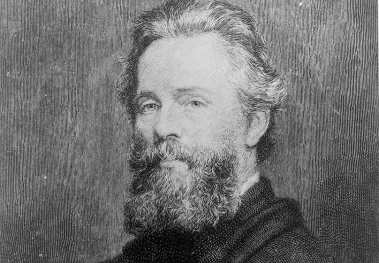 Etching of Joseph Oriel Eaton's portrait of Herman Melville