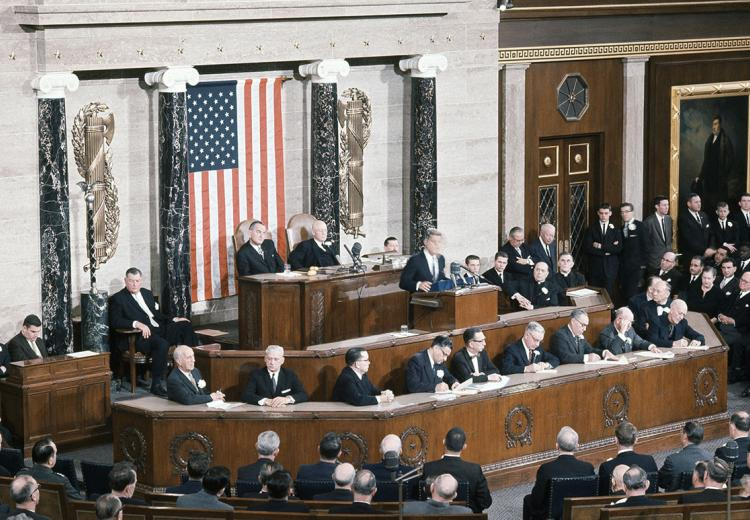 President John F. Kennedy delivers his first State of the Union Address