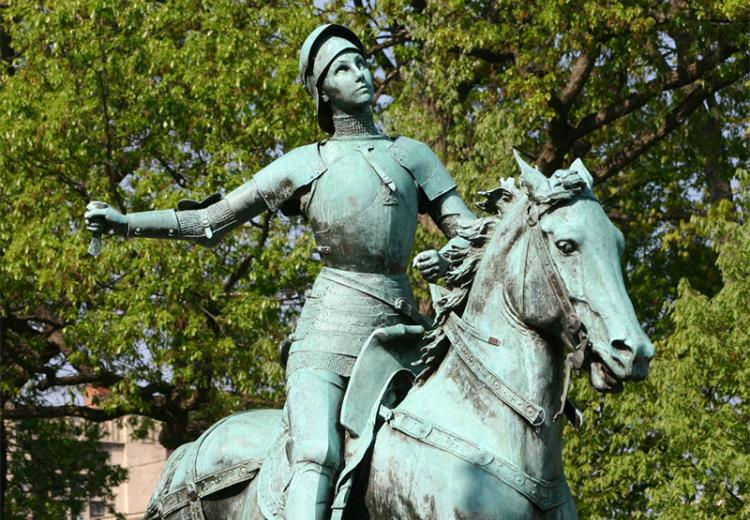 Statue of Joan of Arc in Meridian Hill Park, Washington, D.C.