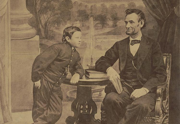 President Lincoln and his son Thaddeus.