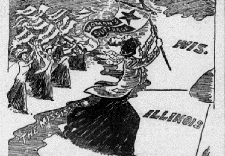Political cartoon published in The Commoner (Lincoln, Nebraska) in 1913.