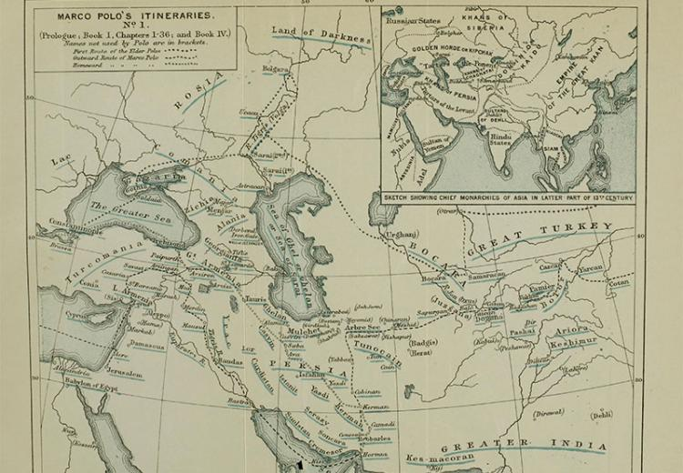 picture about Silk Road Map Printable known as Marco Polo Can take A Holiday vacation NEH-Edsitement