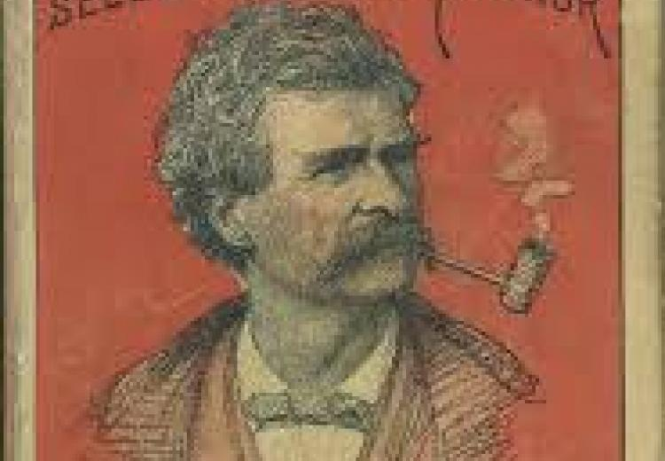 Cover of  Mark Twain's Sketches published in 1892.