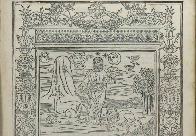 Page from the edition of Ovid's Metamorphoses published by Lucantonio Giunti in Venice, 1497.