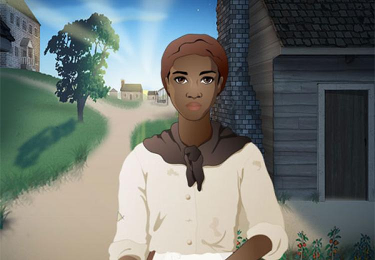 Detail of image from the game of the main character, Lucy