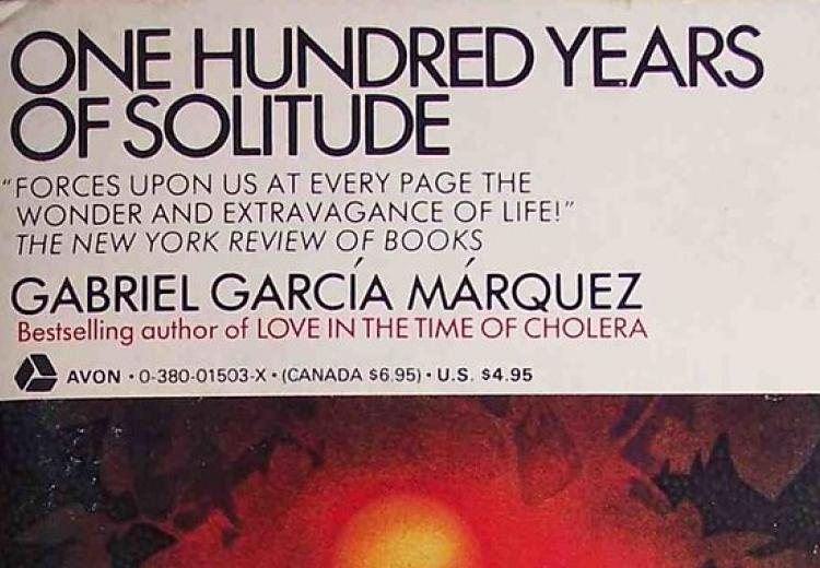 Photo of book cover for One Hundred Years of Solitude.