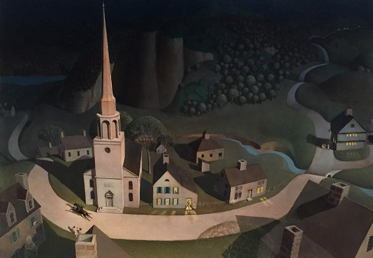 "Grant Wood, ""Midnight Ride of Paul Revere,"" 1931."