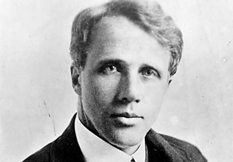 Portrait of Robert Frost.