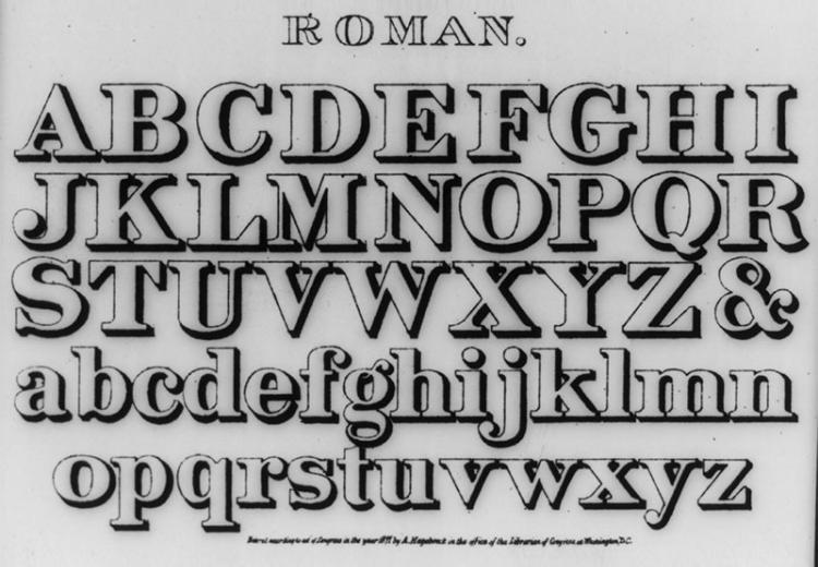 The Romans used the first version of the modern western alphabet