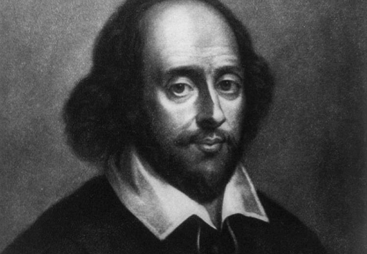 William Shakespeare (1564-1616), one of the world's most prolific writers of poems and sonnets.