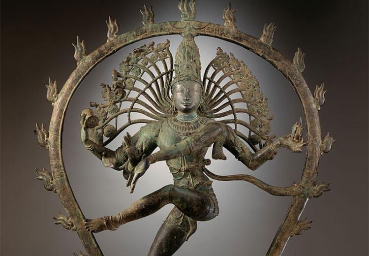 Sculpture of Shiva in copper alloy from India (Tamil Nadu)