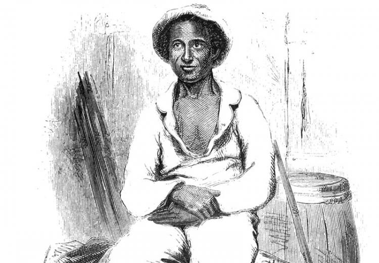 Engraving of Solomon Northup 'in his plantation suit.'