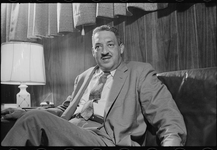 Thurgood Marshall, photographed by Thomas J. O'Halloran, 1957.
