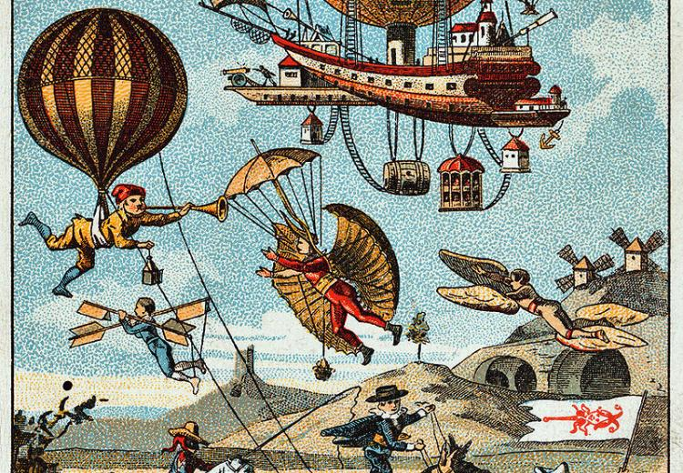 Utopian flying machines, France, 1890–1900.