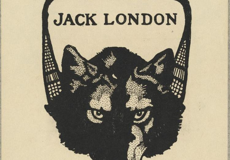 Bookplate of Jack London's White Fang.
