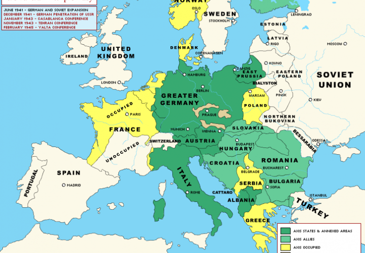 Map Of Europe Ww2 World War II Diplomacy: Europe through the Course of the War | NEH